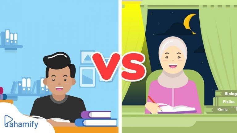 Belajar Pagi Hari vs Belajar Malam Hari