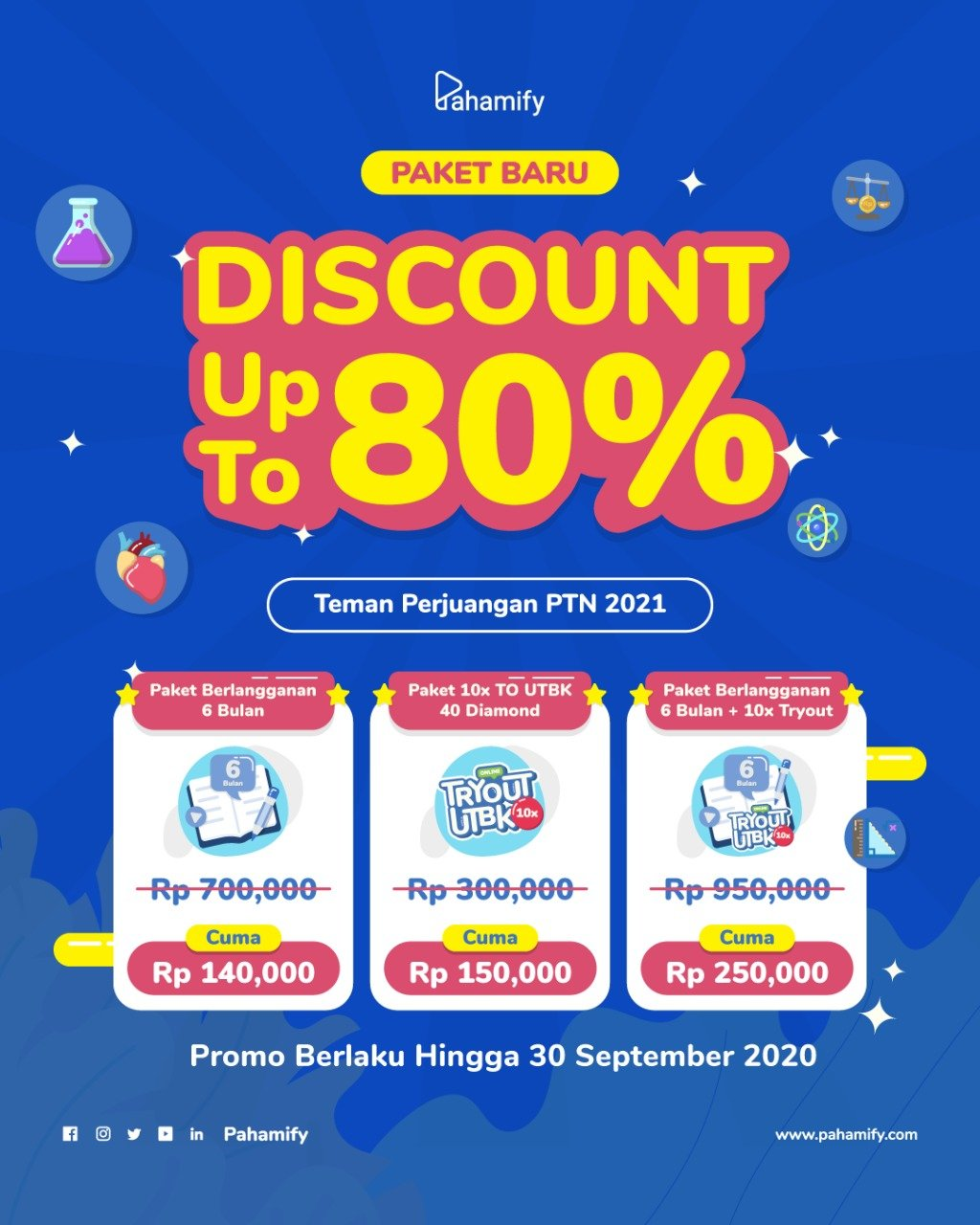 DISCOUNT UP TO 80%!