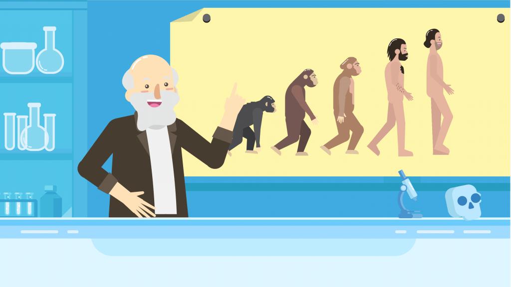Penelitian Charles Darwin tentang asal-usul manusia membawa kontroversi tentang apa yang dimaksud dengan teori evolusi.
