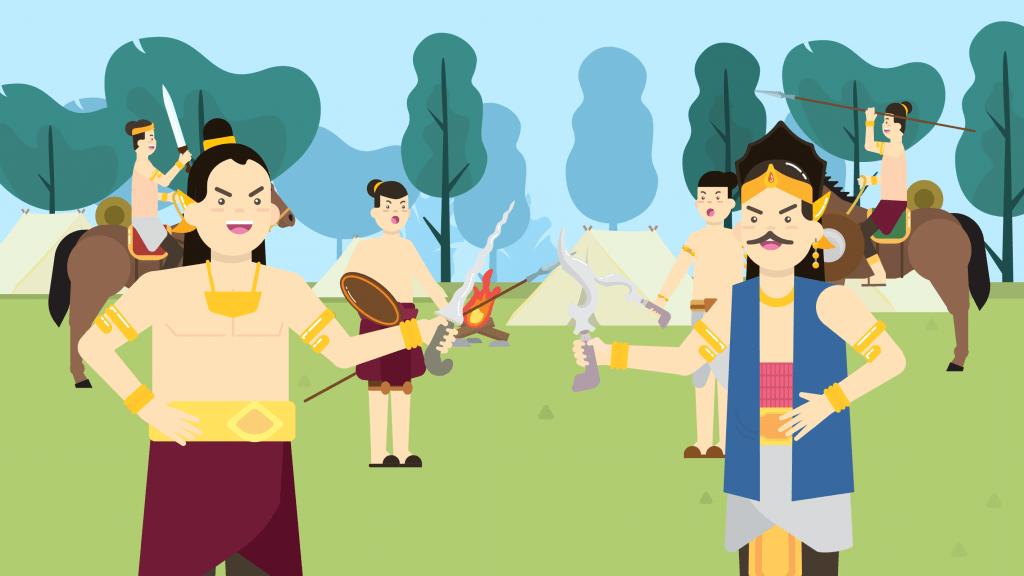 Mahapatih Majapahit ingin menaklukkan kerajaan Sunda, saat Raja Hayam Wuruk ingin mempersunting Putri Dyah Pitaloka. Ini menjadi salah satu cerita Perang Bubat yang populer.